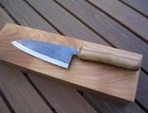 Handgeschmiedetes Küchenmesser mit Exotenholzgriff