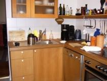Küche in Buche mit glatter Front