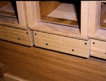 Holzpfeife fertig eingebaut